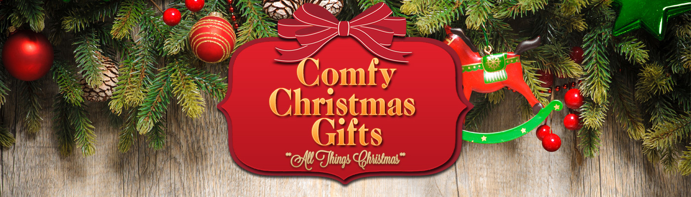 Comfy christmas gifts banner