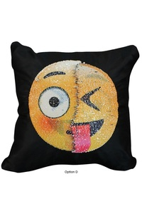2owlsisters changing face emoji cushion cover sequins sofa pillows magic pillowcase christmas decorations for home kids d