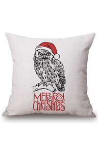 2owlsisters owl merry christmas decorative pillow case
