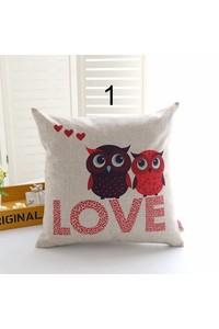 2owlsisters love owls decorative pillow case