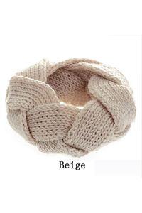 2owlsisters crochet knit wool headband beige