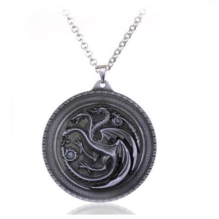 2owlsisters dragons game of thrones pendant necklace