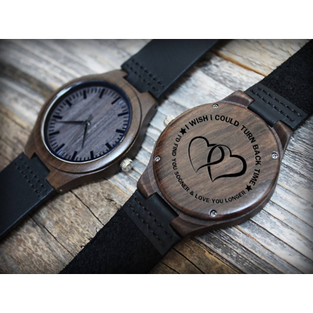 446fc1cd5345 Engraved Wooden Watch - Great Gift!