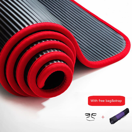 Non slip yoga mat 10mm multifunctional sports yoga mat for fitness gym colchonete mat 183 60 %281%29
