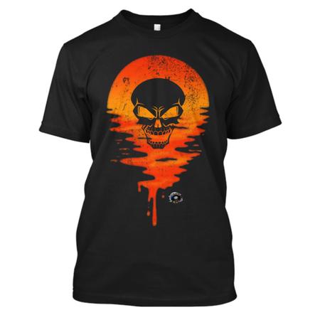 Skull sunset angry skull mockup reduced skull