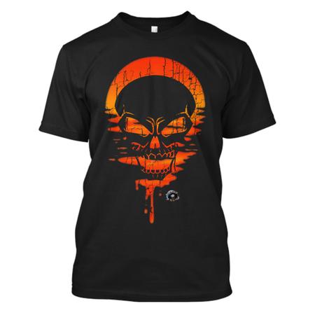 Skull sunset angry skull mockup