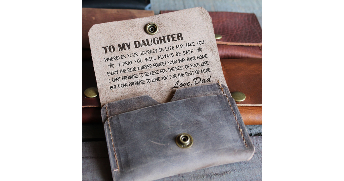 What Stores Accept Paypal Credit >> DAUGHTER DAD - ENJOY THE RIDE 2 - LEATHER WALLET