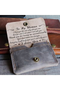 My woman   unconditionally   leather wallet