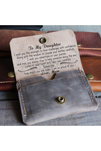 Daughter mum   i wish you   leather wallet