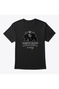 Crossbow hunting podcast men's tee black mockup