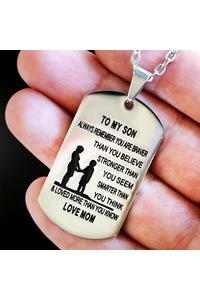 From mom to son stainless steel dog tag necklace 4331978883116 92b4ff96 2bd4 4331 bb1d f6982e63423f 740x