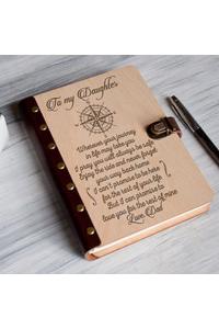 Daughterdad enjoy the ride  wood notebook mkplanner