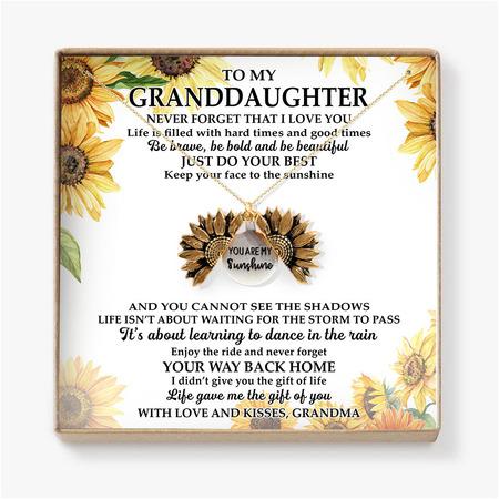 To my grandaughter grandma sunfl