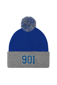 Beanie 901 mockup front default royal heather grey