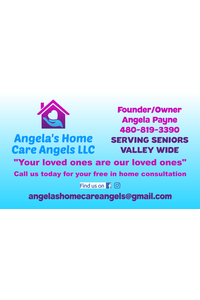 Angela's home care angels business card revised 10 29 19 front