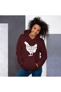 Crazy chicken lady white 2000 maroon