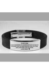 Mom to son brave blk bracelet 479