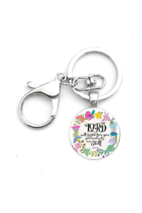 The lord will fight for you keychain