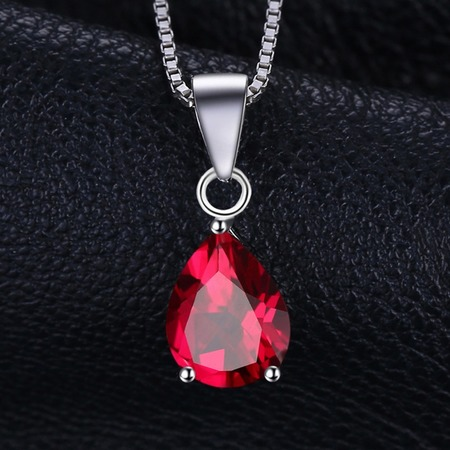 January birthstone red garnet pendant jewelrypalace pear 2 2ct natural red garnet birthstone pendant necklace 925 sterling silver jewelry 45mm box mozeypictures Gallery