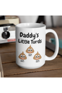 Ffg  daddy turd mug hero