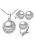 Fenasy selling natural pearl jewelry set for women fashion 925 sterling silver pendant earrings pearl jewelry 1