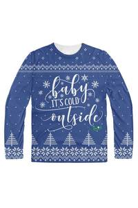 Baby it's cold outside blue