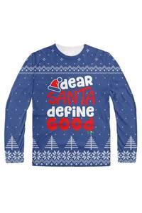 Dear santa define good blue