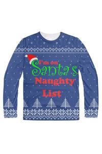 I'm on santa's naughty list blue