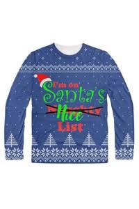 I'm on santa's nice naughty list blue