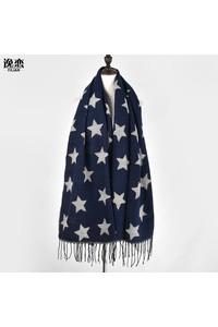 2owlsisters pashmina wool scarf stars