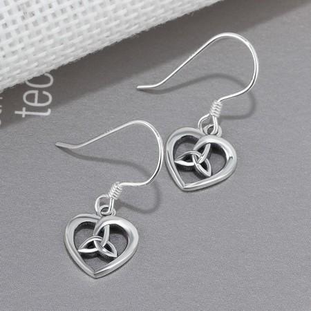 2owlsisters heart trinity hollow dangle earrings faith