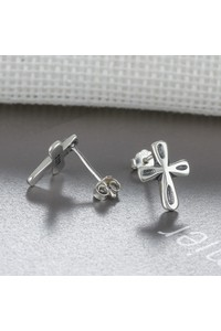 2owlsisters sterling silver cross stud earrings