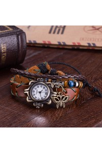 2owlsisters vintage bohemian leather bracelet watch