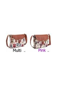 2owlsisters owl canvas purse multi